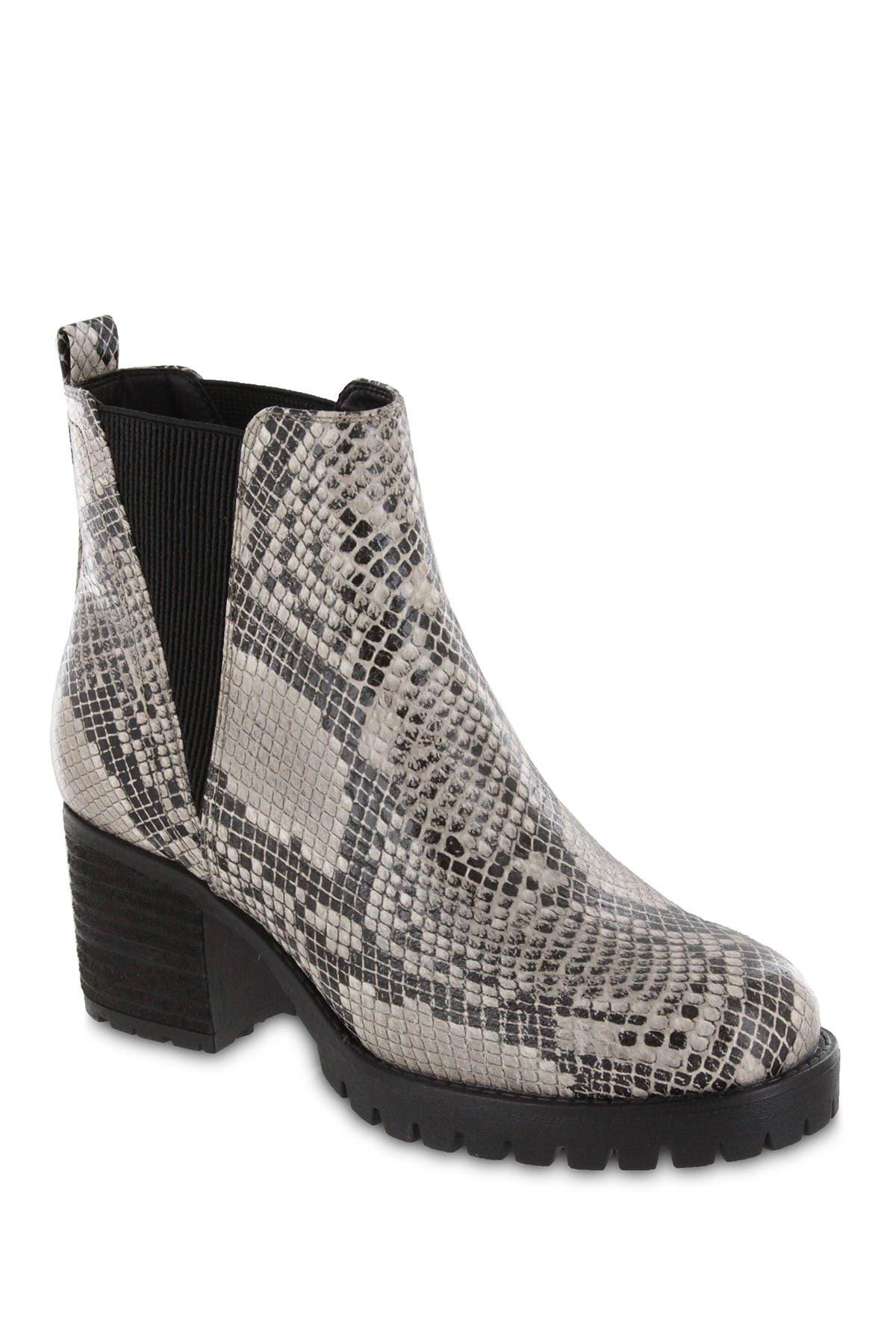 Image of MIA Jody Snake Embossed Platform Boot
