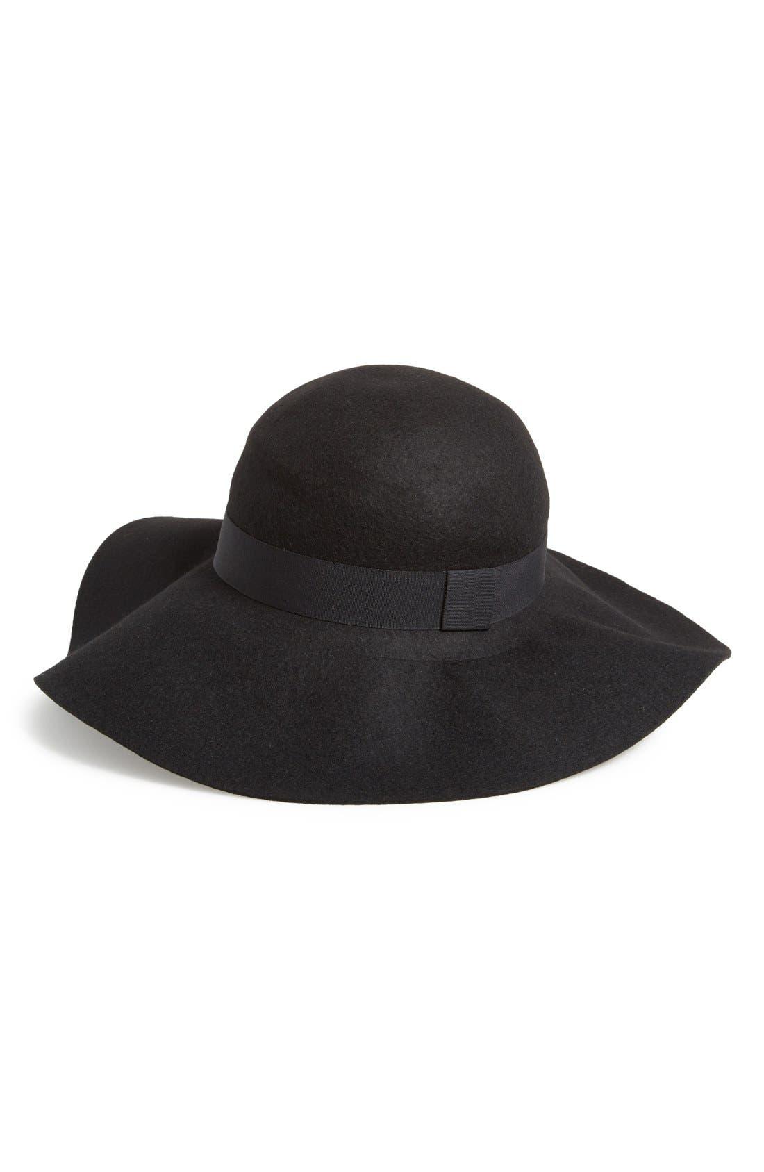 ,                             Floppy Felt Hat,                             Main thumbnail 1, color,                             001