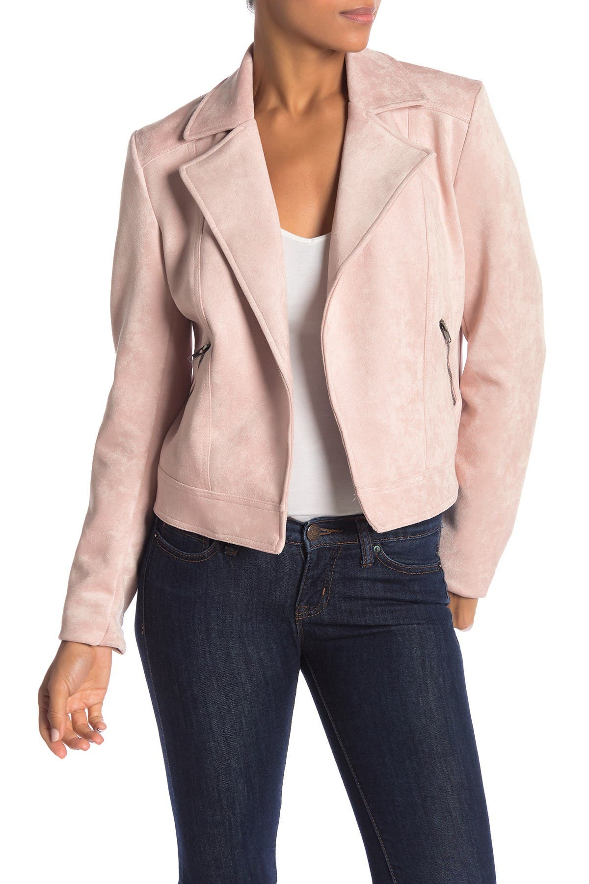 Image of Philosophy Apparel Faux Suede Moto Jacket