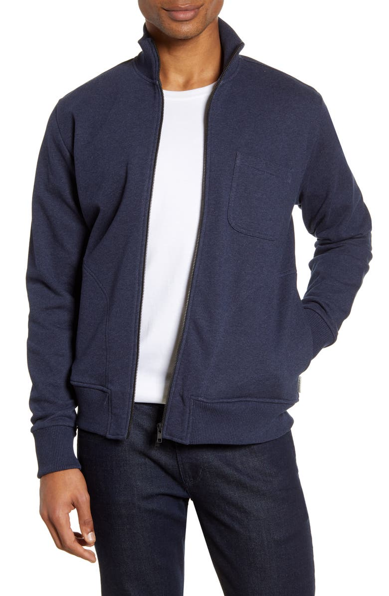 OLIVER SPENCER Organic Cotton Track Jacket, Main, color, CLAYTON NAVY