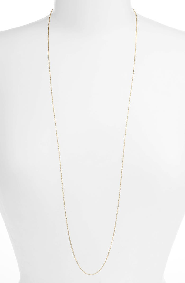 BONY LEVY Long Rolo Chain Necklace, Main, color, 710