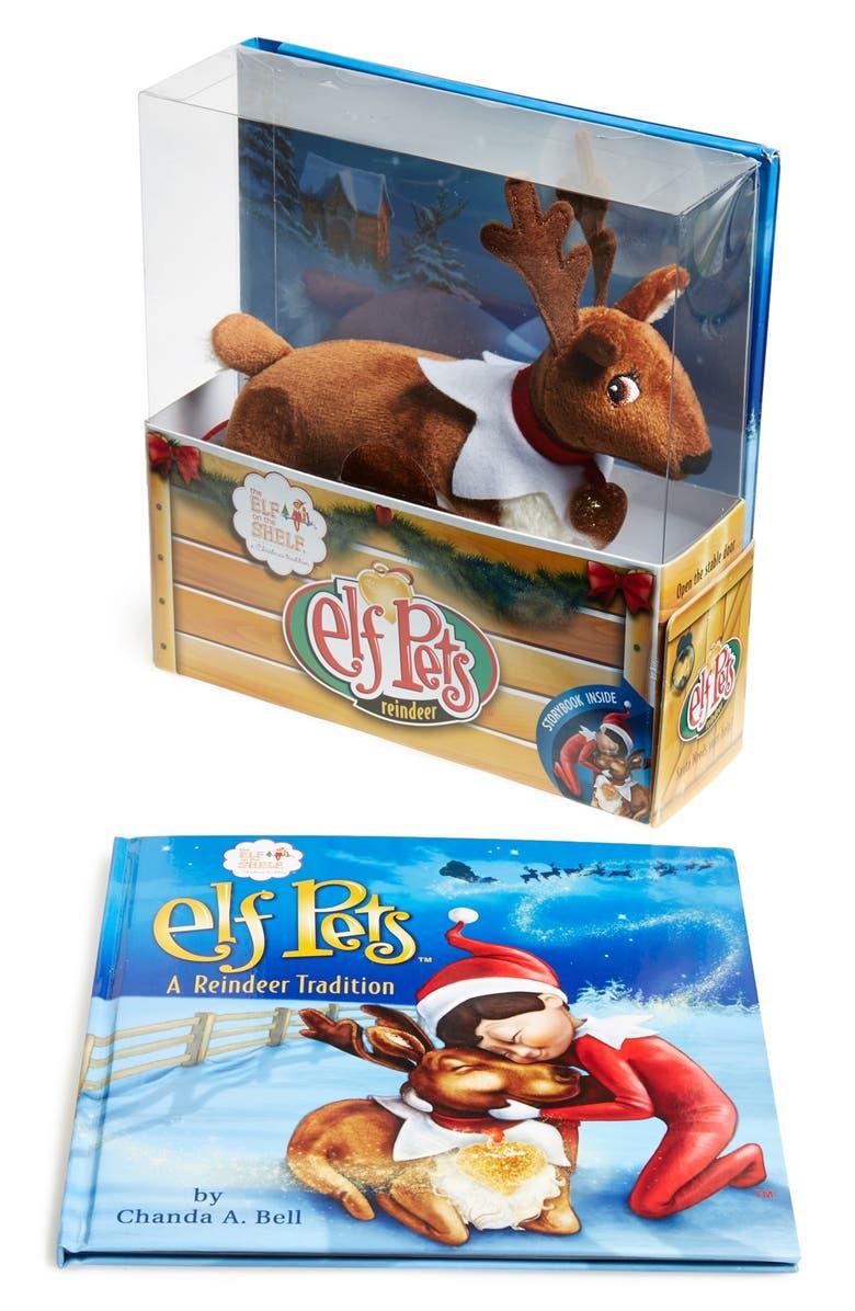 ELF ON THE SHELF 'Elf Pets' Reindeer & Book, Main, color, BROWN