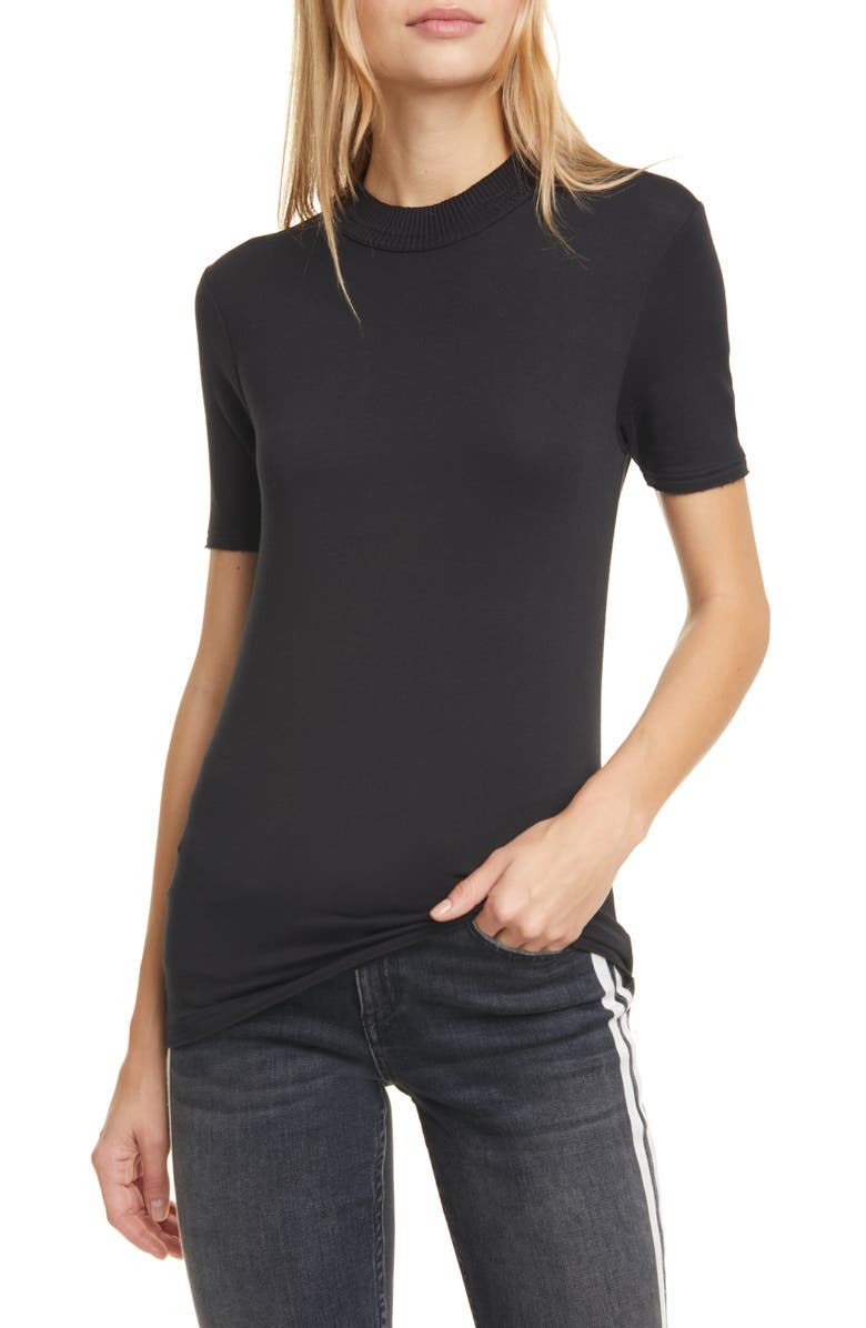 RAG & BONE Surplus Crewneck Tee, Main, color, BLACK