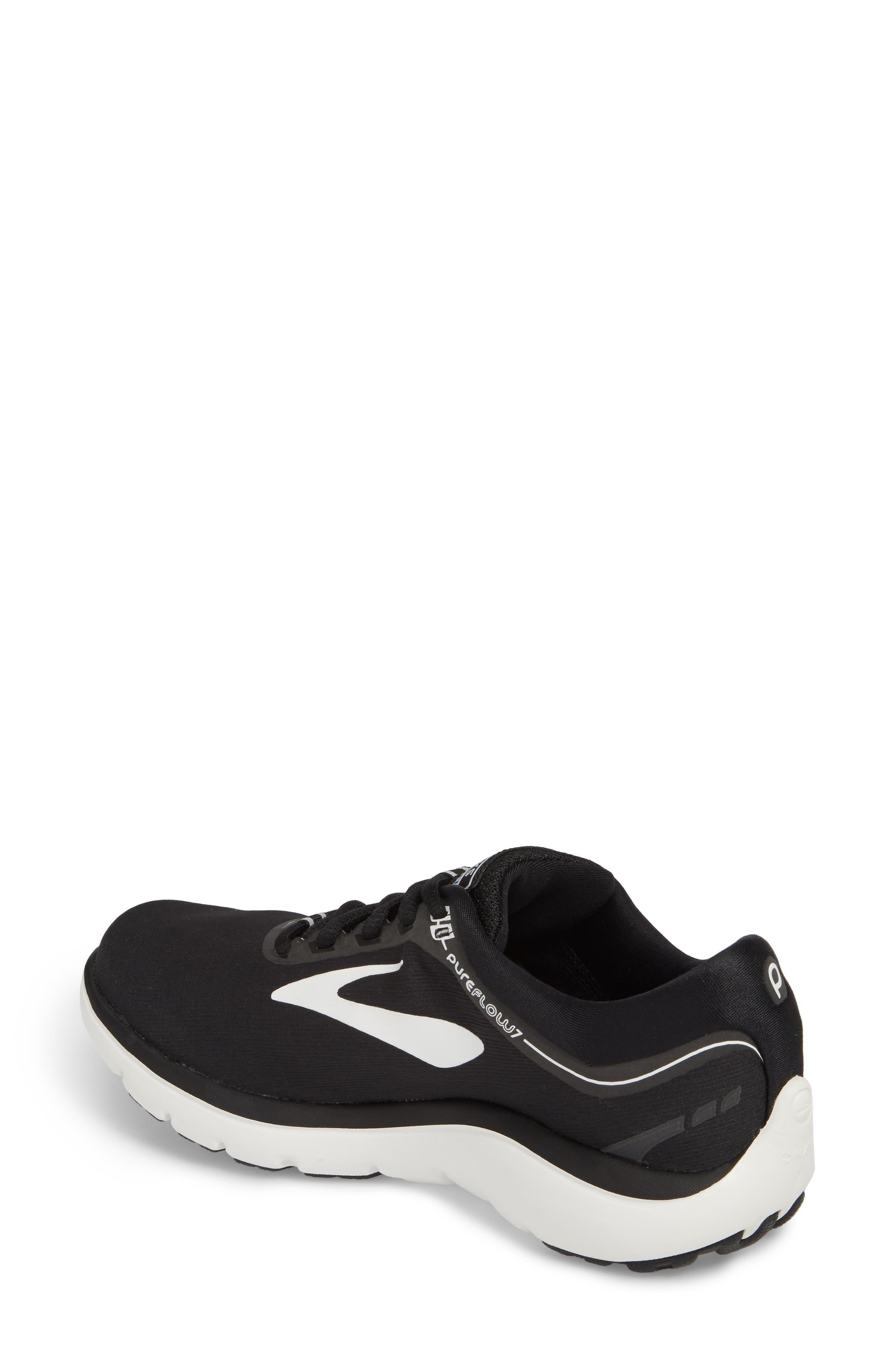 ,                             PureFlow 7 Running Shoe,                             Alternate thumbnail 2, color,                             BLACK/ WHITE