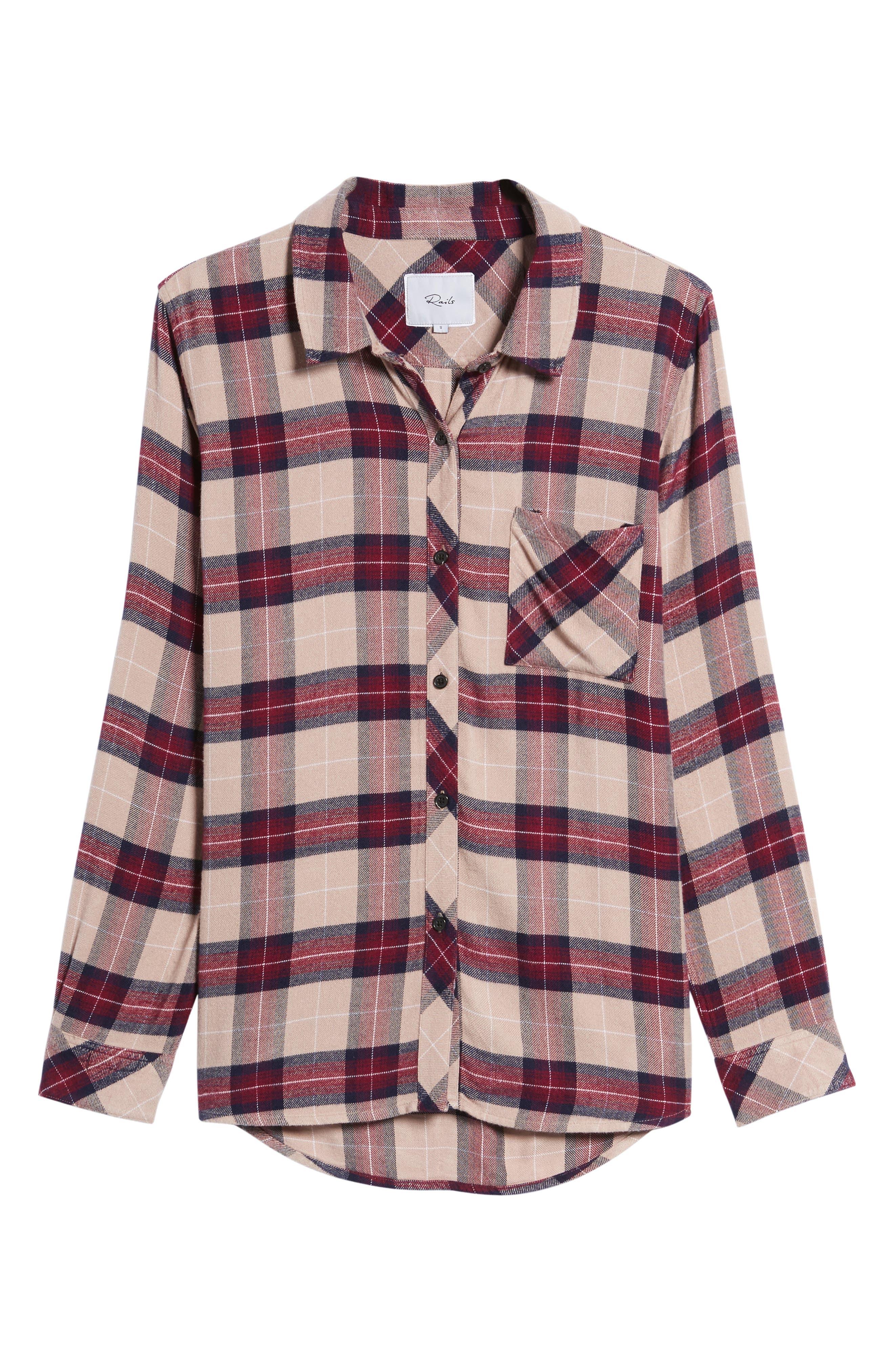 ,                             Hunter Plaid Shirt,                             Alternate thumbnail 707, color,                             294