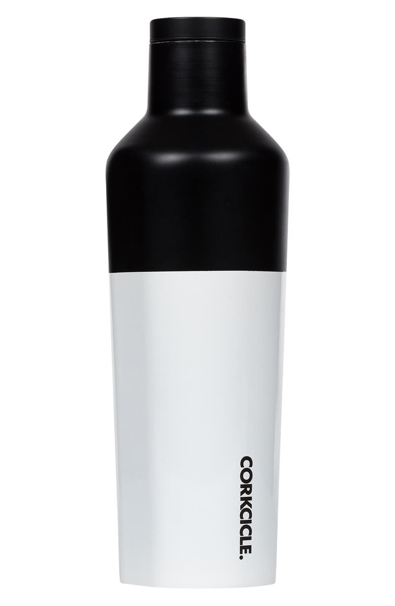 CORKCICLE Modern Black Insulated 16-Ounce Stainless Steel Canteen, Main, color, MODERN BLACK
