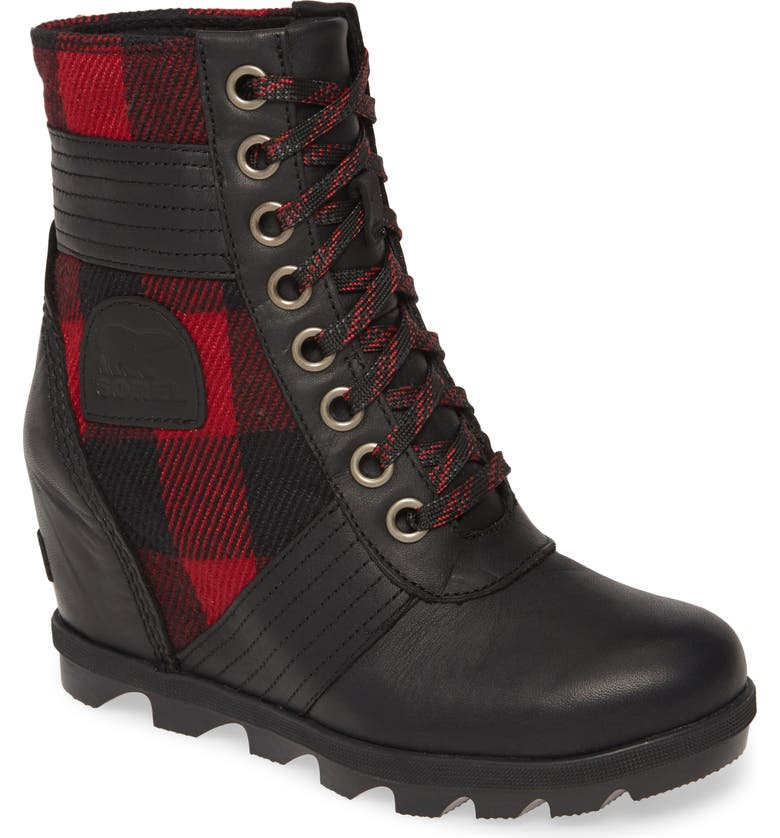 SOREL Lexie Wedge Waterproof Boot, Main, color, 001
