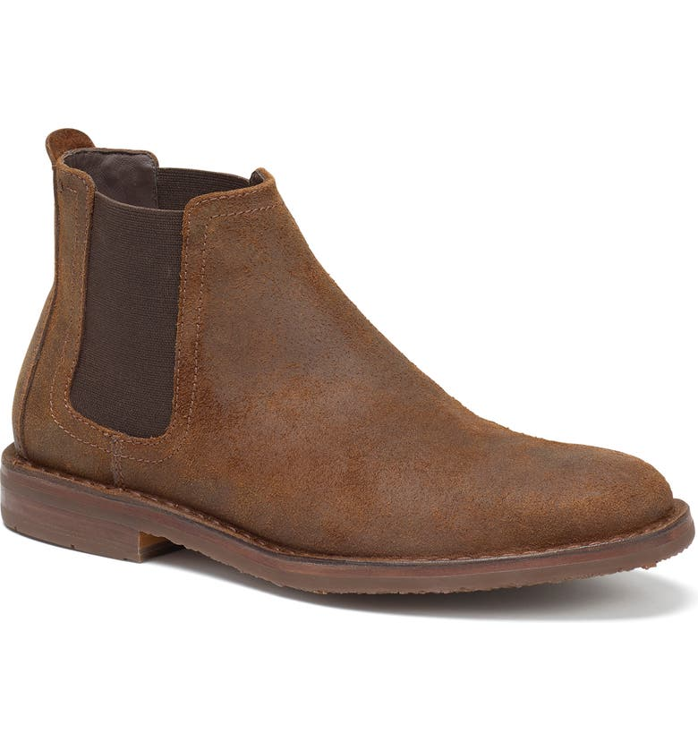 TRASK Britton Chelsea Boot, Main, color, BROWN WAXED SUEDE