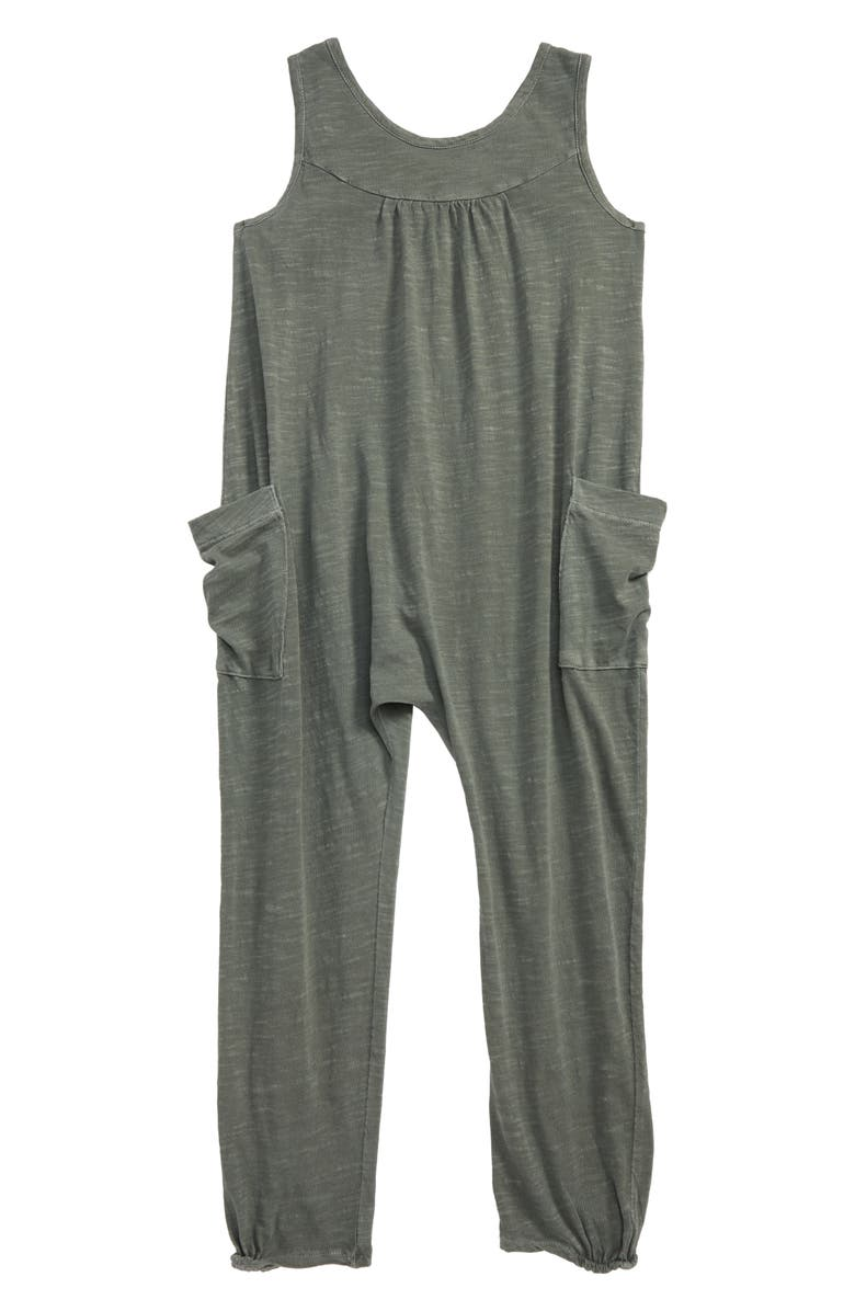 STEM Cross Back Sleeveless Jumpsuit, Main, color, GREEN AGAVE