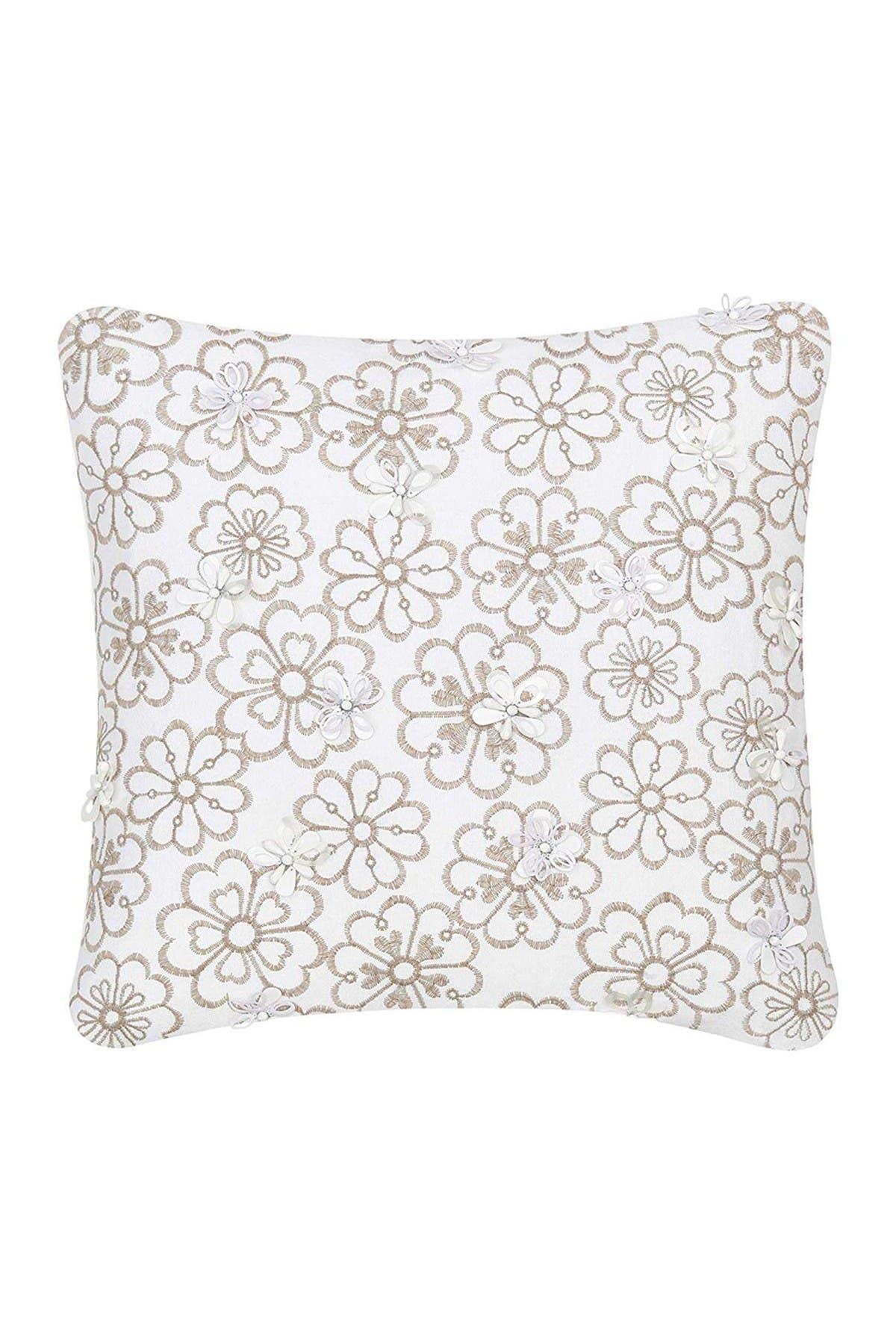 "Image of kate spade new york white heart garden decorative pillow - 18"" x 18"""