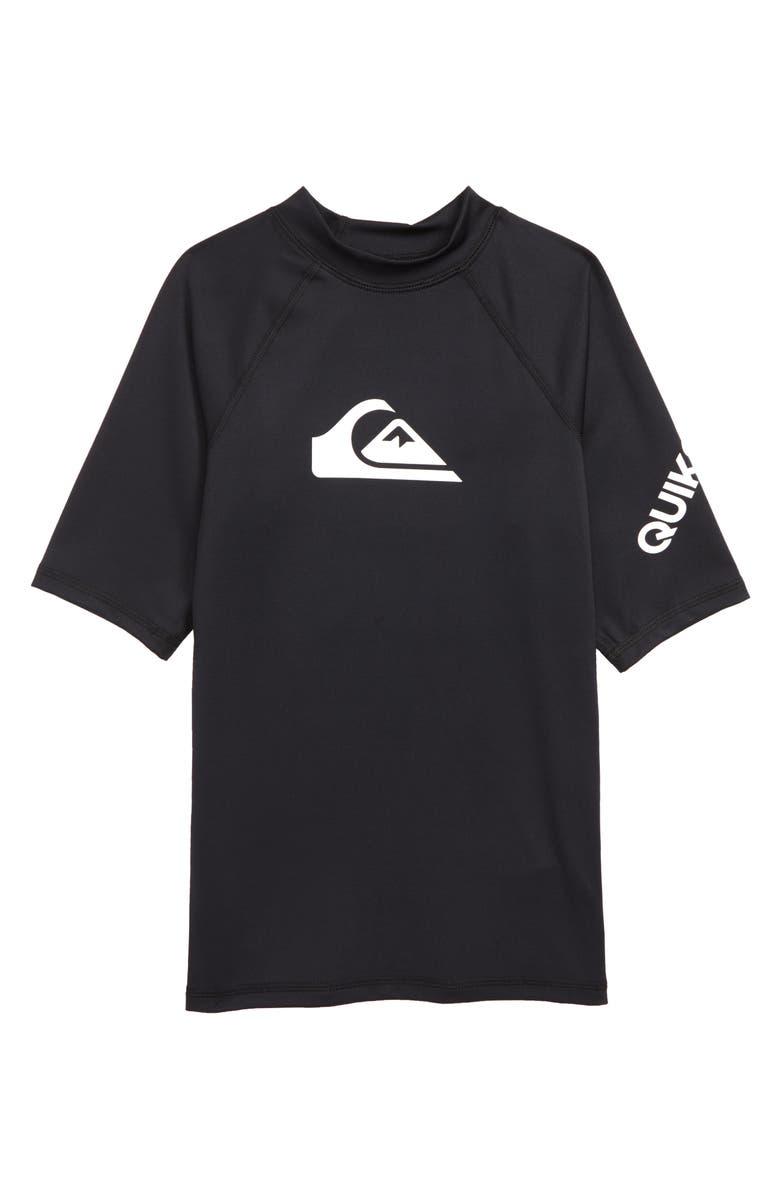 QUIKSILVER All Time Rashguard Top, Main, color, BLACK