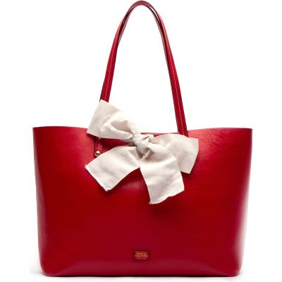 Frances Valentine Trixie Leather Tote - Red