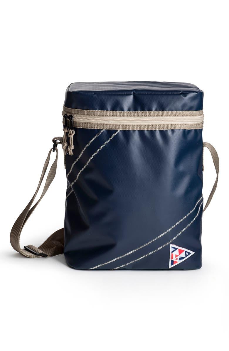 SAGAFORM Nautical Cooler Bag, Main, color, BLUE