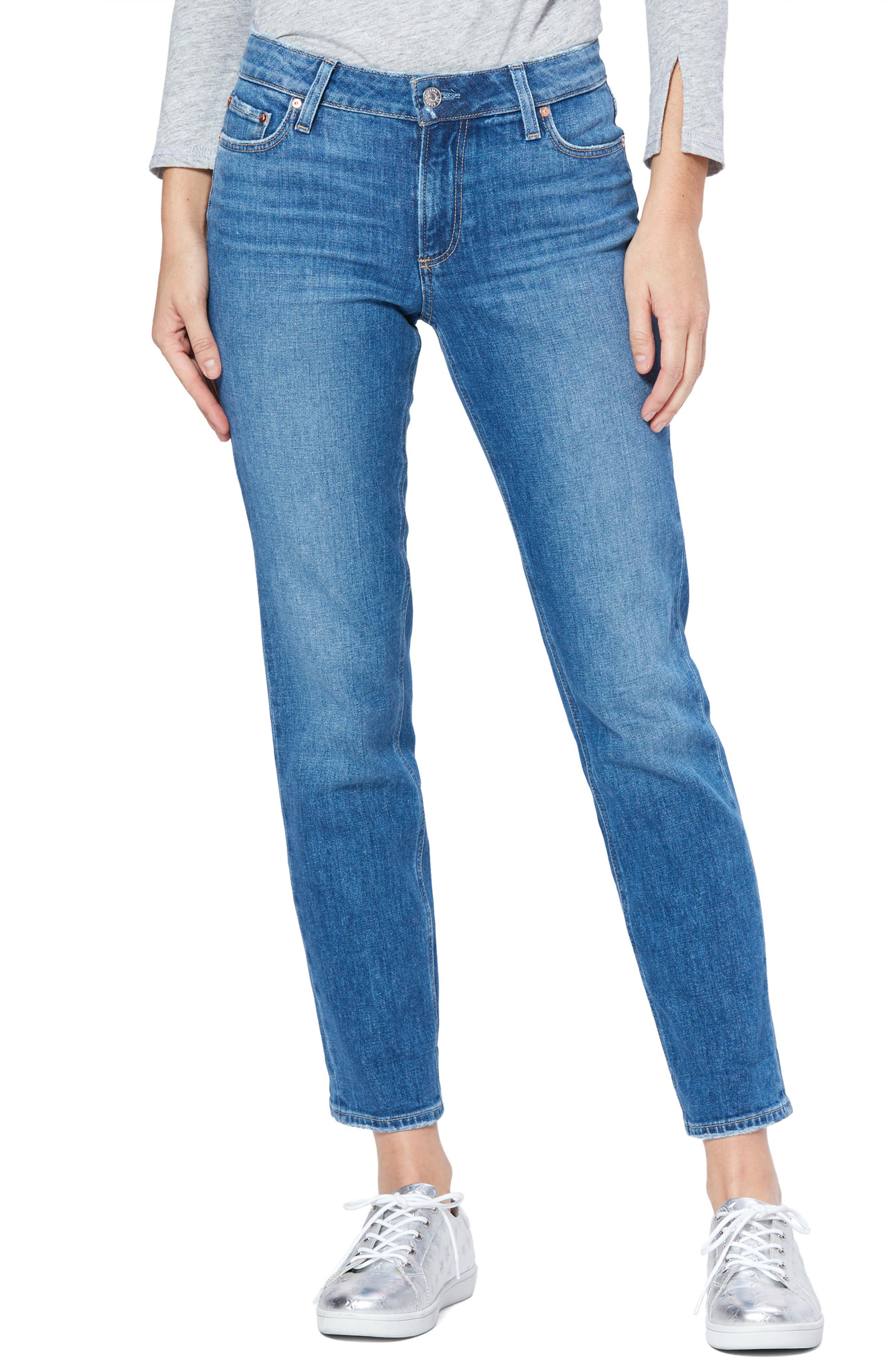 PAIGE Vintage - Brigitte High Waist Ankle Boyfriend Jeans (Trail)
