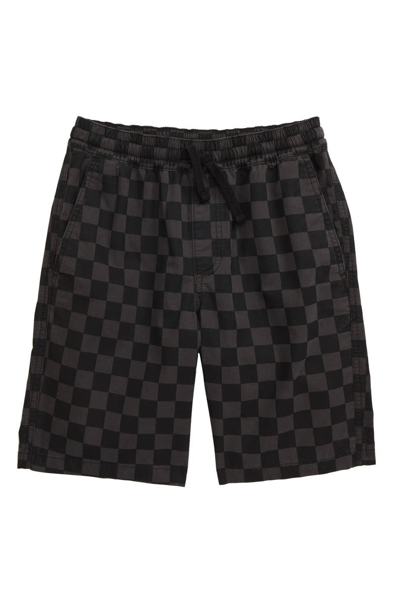 VANS Range Shorts, Main, color, BLACK CHECKER