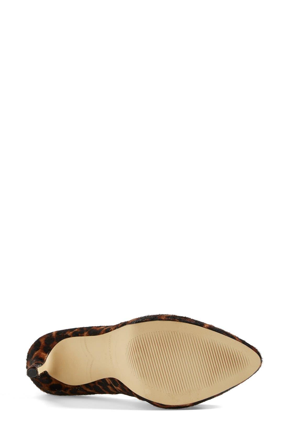 ,                             'Samendra' Cheetah Spot Calf Hair Platform Pump,                             Alternate thumbnail 3, color,                             200