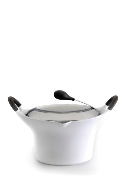 Image of BergHOFF 1.5qt. White Cast Covered Casserole Pot