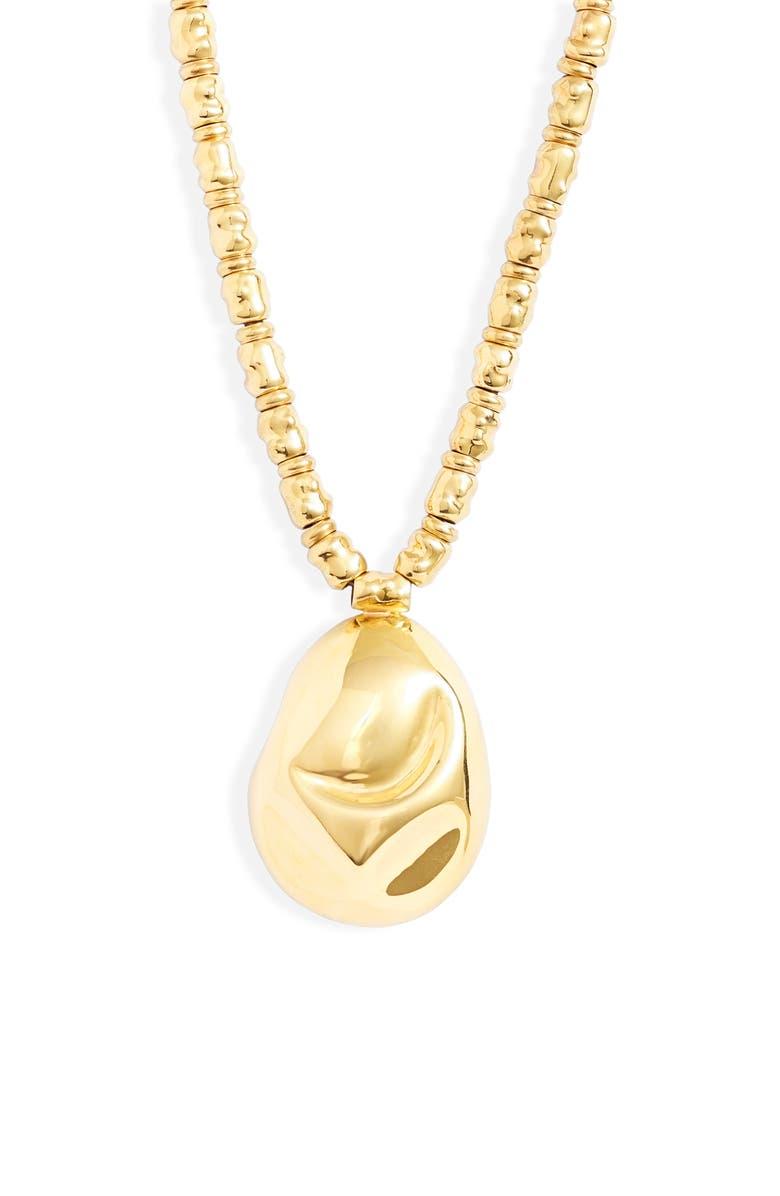 MONICA SORDO Cubagua Pendant Collar Necklace, Main, color, GOLD