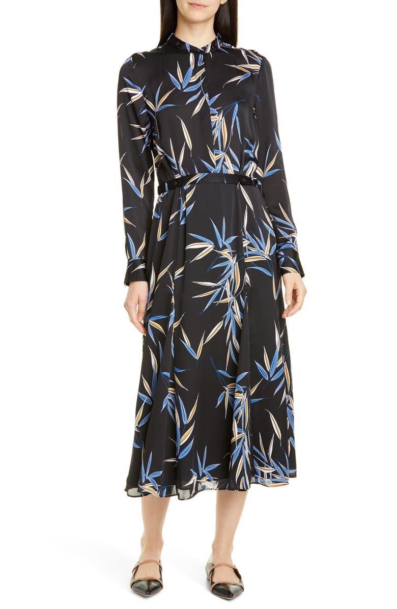 EQUIPMENT Sabenne Long Sleeve Midi Shirtdress, Main, color, 001