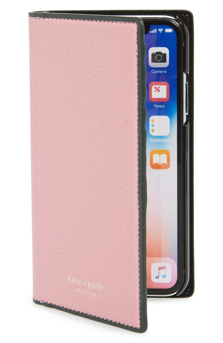 KATE SPADE NEW YORK sam iPhone X/Xs, Xs Max & XR folio, Main, color, ROCOCO PINK