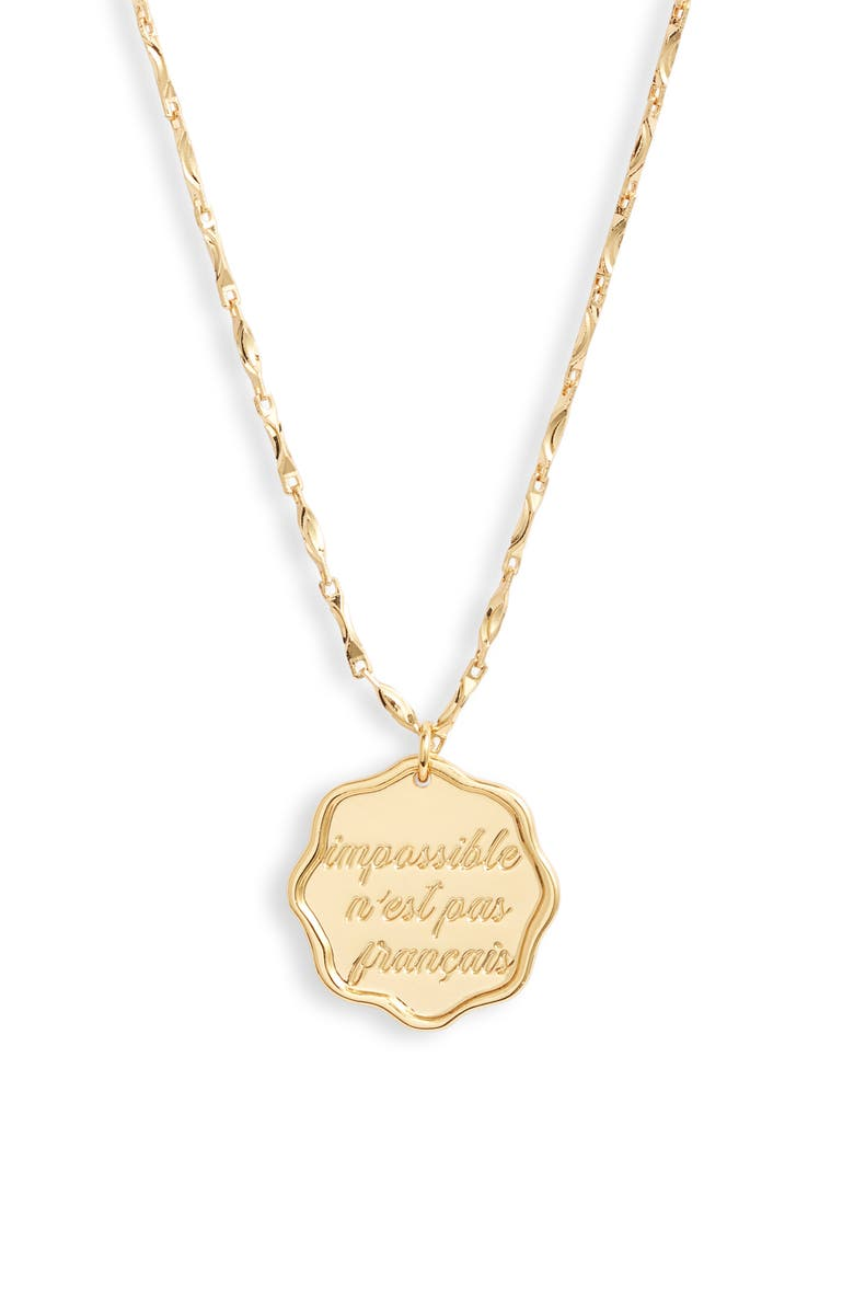 JONESY WOOD Impossible Pendant Necklace, Main, color, GOLD