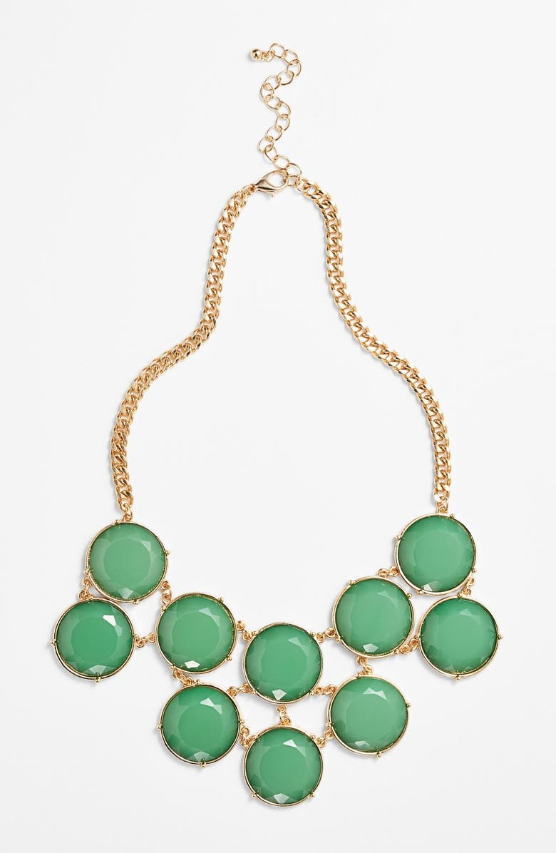 BP. Circle Stone Statement Necklace, Main, color, 300
