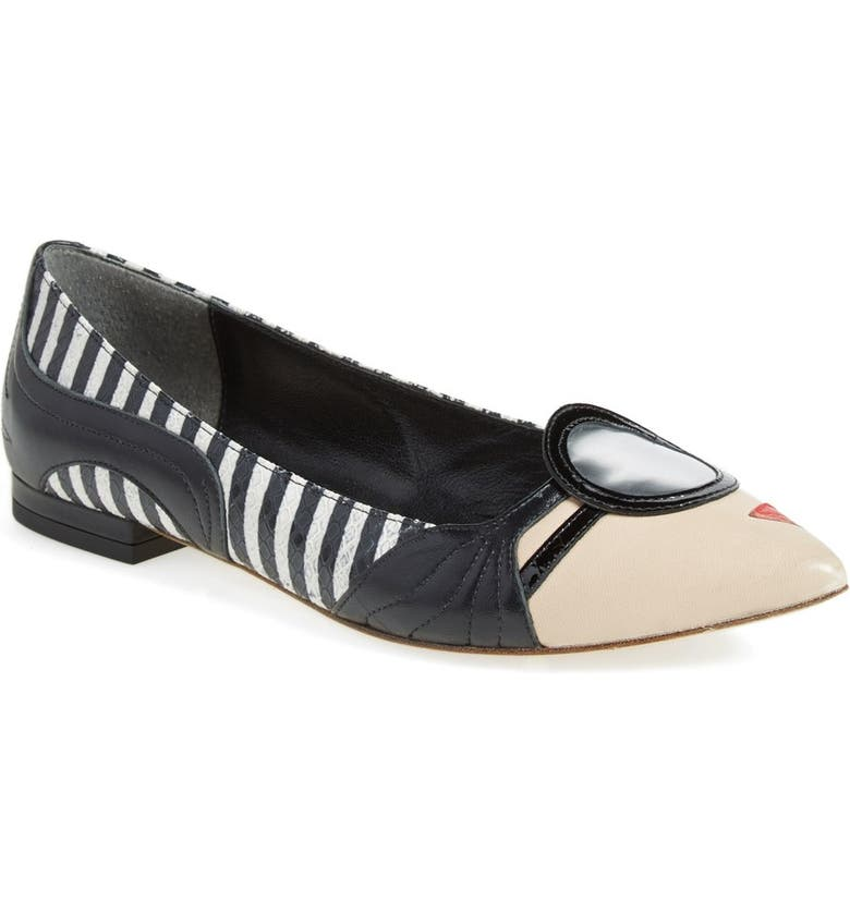 ALICE + OLIVIA 'Stace Face' Pointy Toe Flat, Main, color, 264
