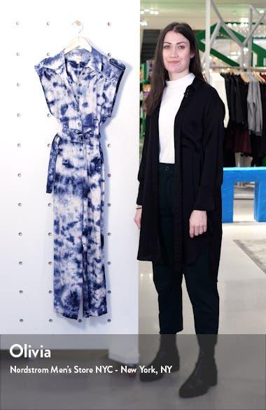 Tie Dye Crop Cotton Jumpsuit, sales video thumbnail
