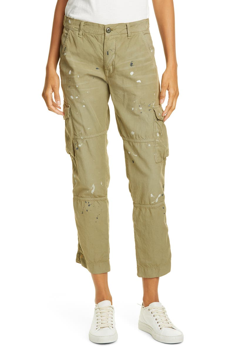 NSF CLOTHING Basquiat Cargo Pants, Main, color, OLIVE PAINTED MILITARY