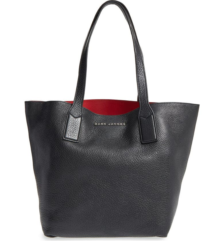 MARC JACOBS 'Wingman' Leather Shopping Tote, Main, color, 001