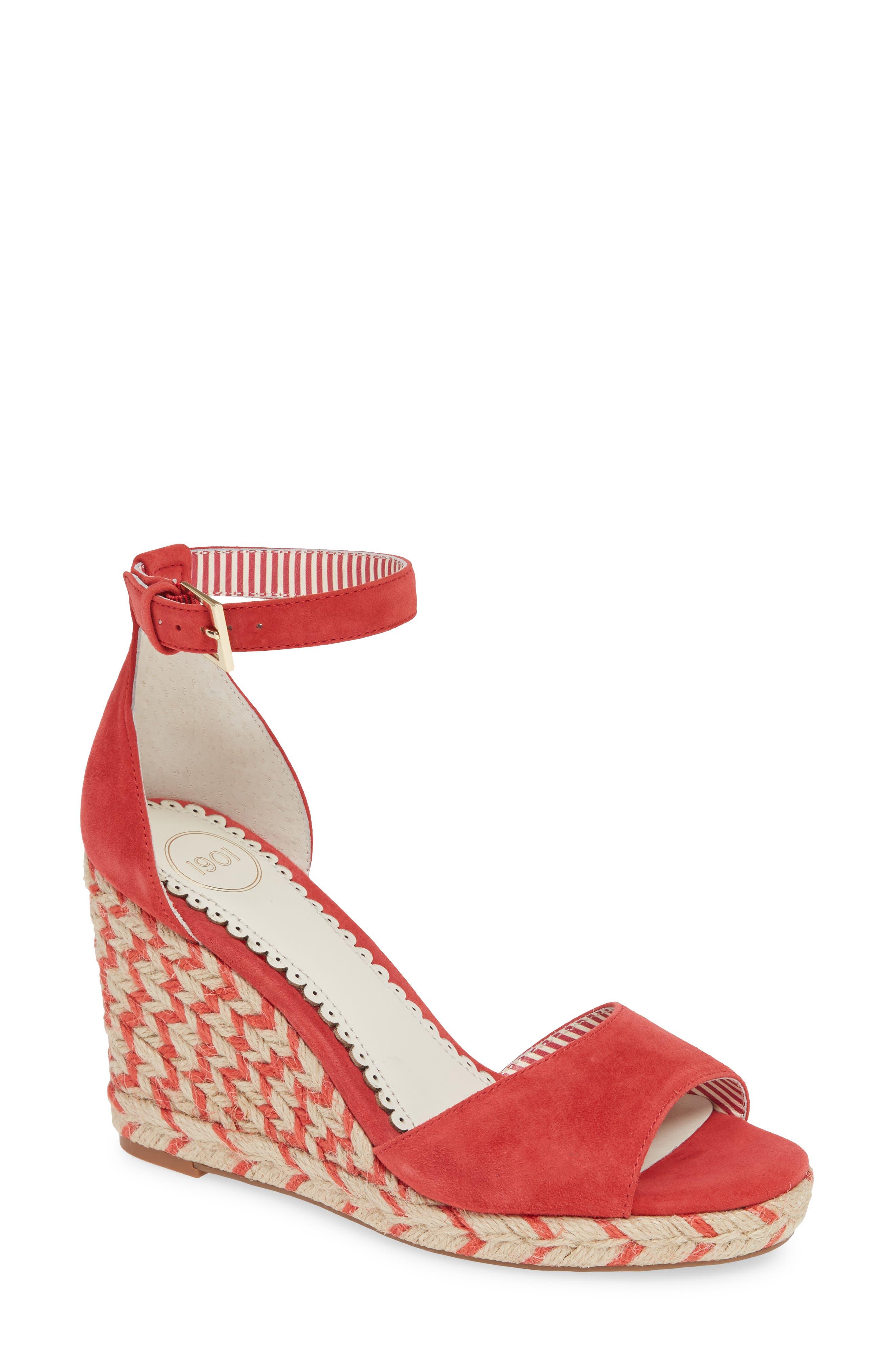 Image of 1901 Nadine Espadrille Wedge Ankle Strap Sandal