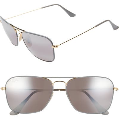 Ray-Ban 5m Aviator Sunglasses - Gold/ Grey Mirror