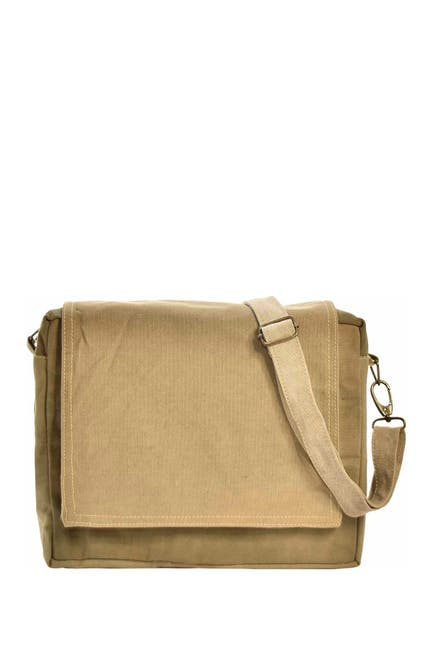 Image of Vintage Addiction Recycled Military Tent Crossbody Bag