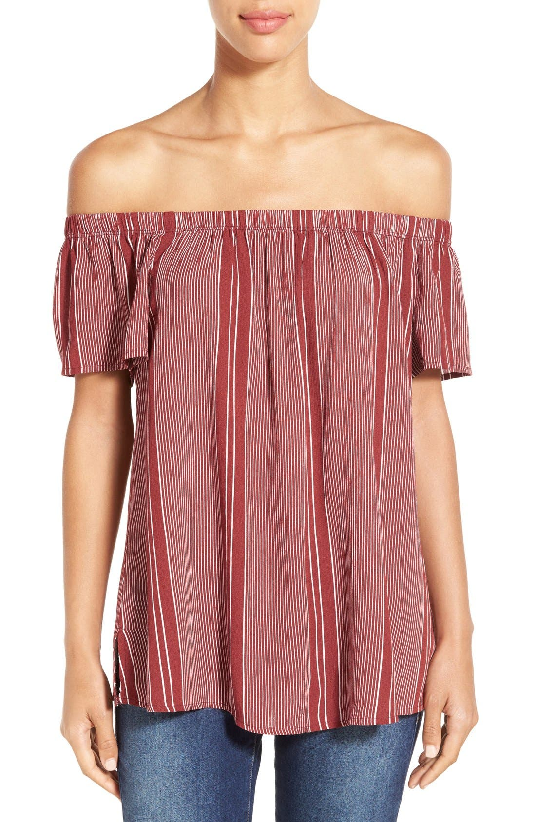 ,                             Off the Shoulder Top,                             Main thumbnail 43, color,                             646
