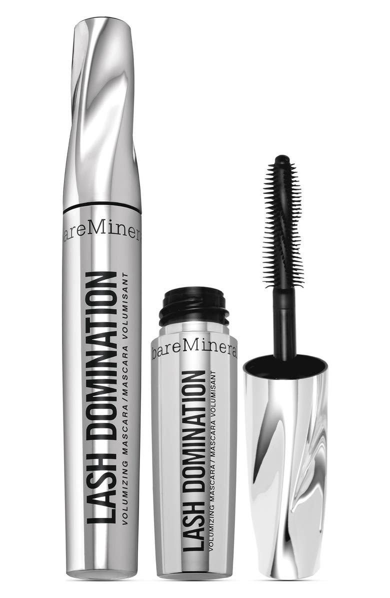 BAREMINERALS<SUP>®</SUP> 'Double Domination' Mascara Set, Main, color, 000