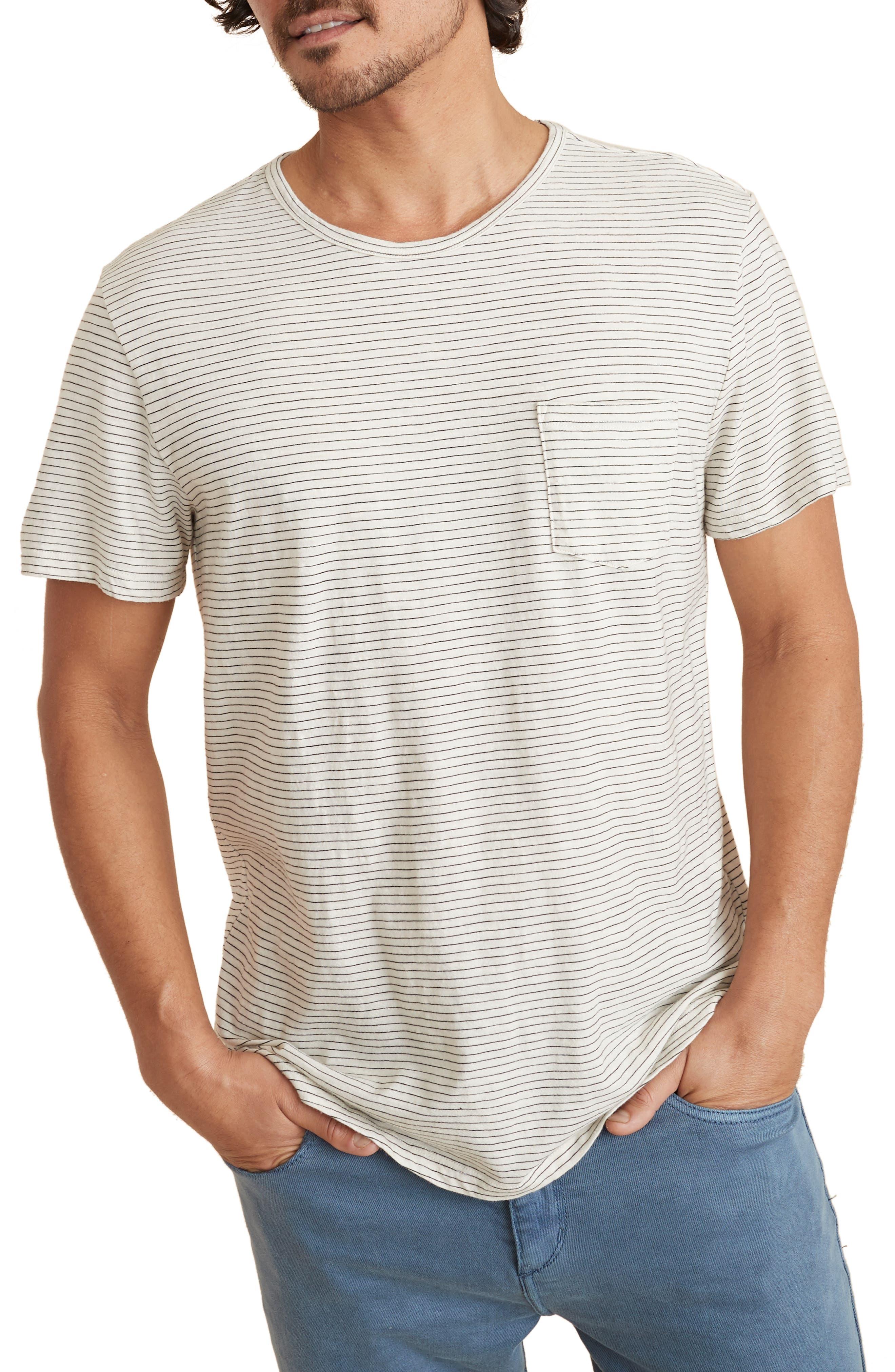 Stripe Slub Pocket T-Shirt