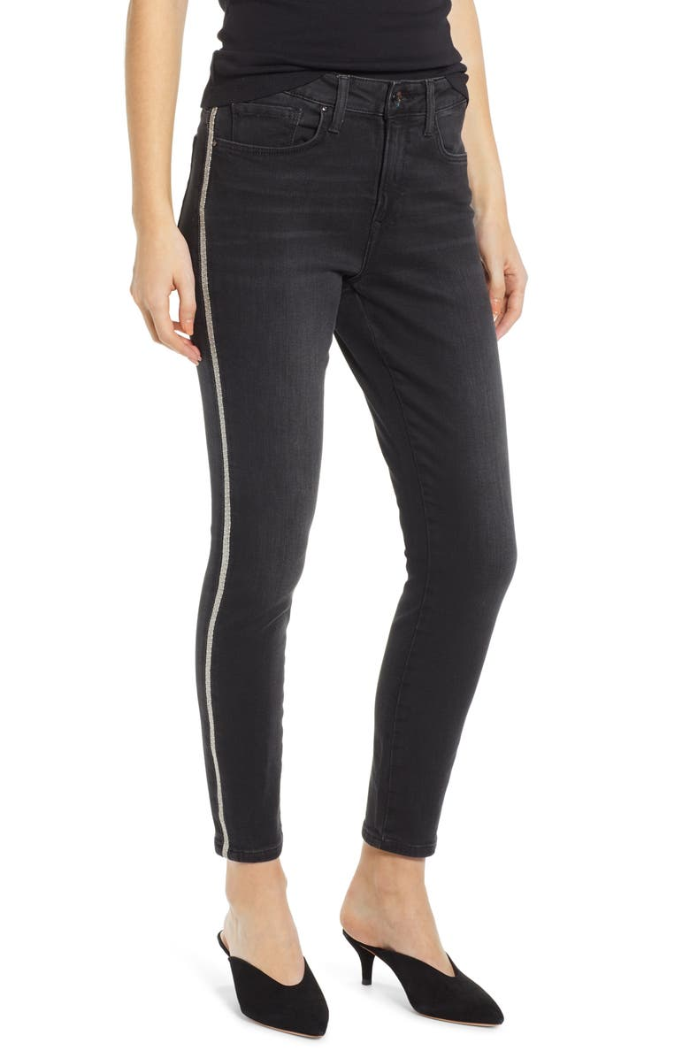 MAVI JEANS Alissa Side Stripe Ankle Skinny Jeans, Main, color, SHINY BINDED SMOKE