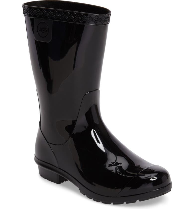 UGG<SUP>®</SUP> Raana Waterproof Rain Boot, Main, color, BLACK