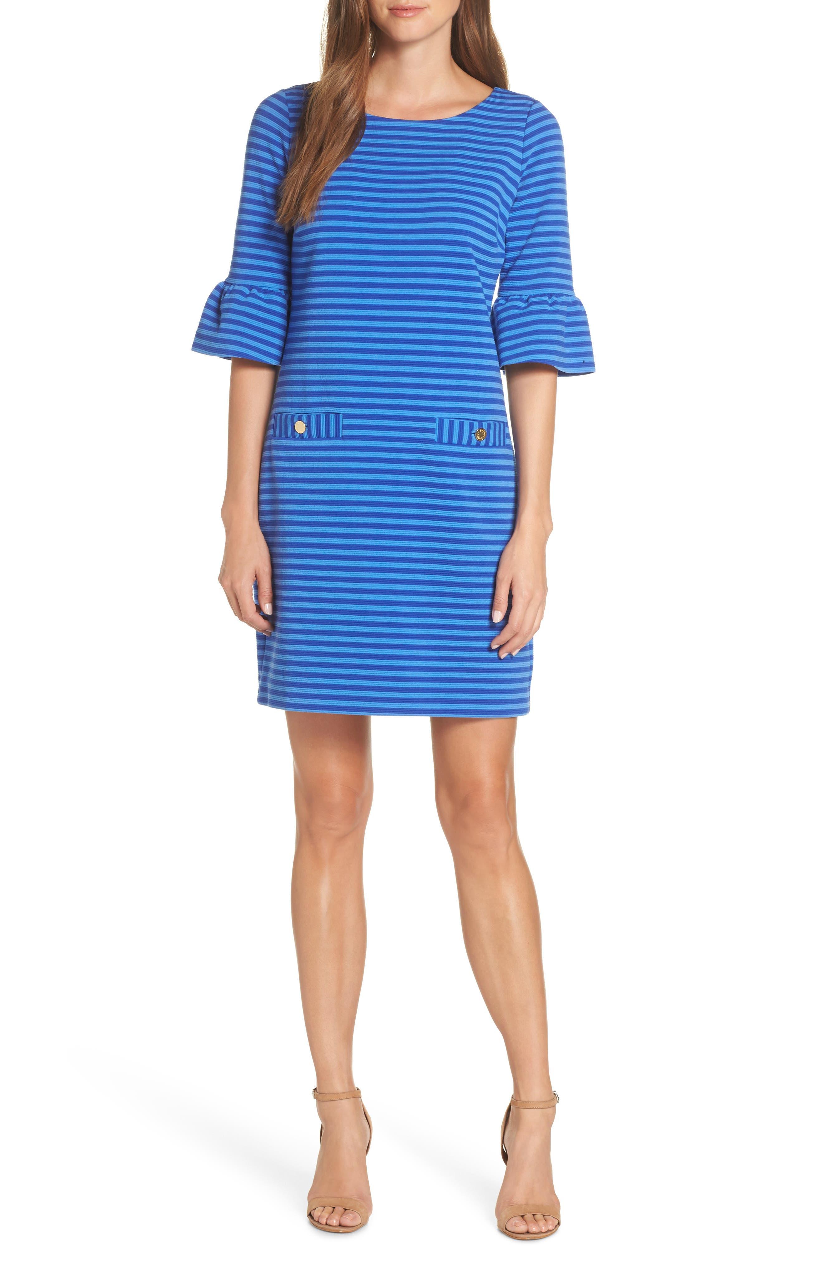 Lilly Pulitzer Alden Stripe Ottoman Shift Dress, Blue