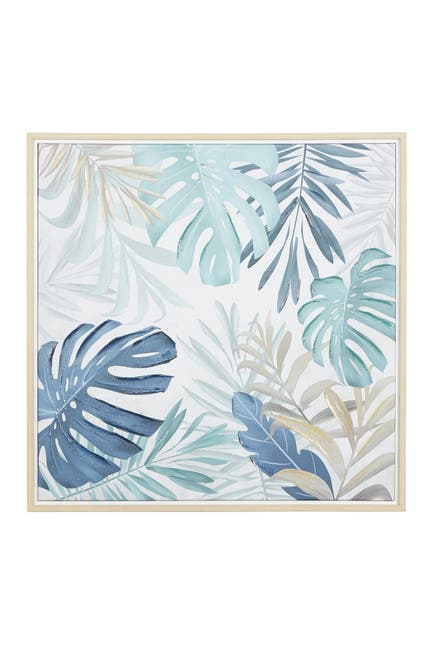 Image of Willow Row Blue Canvas Coastal Style Wall Art