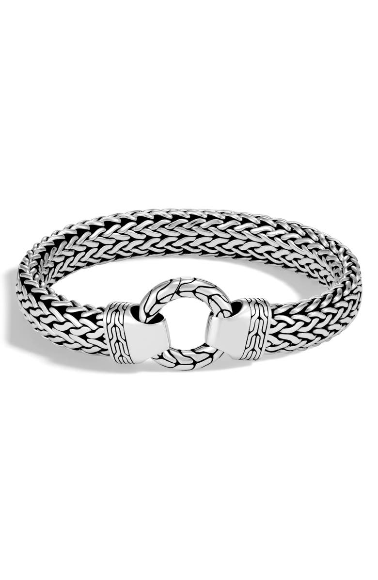JOHN HARDY O Station Classic Chain Bracelet, Main, color, SILVER