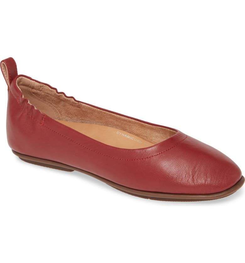 FITFLOP Allegro Ballet Flat, Main, color, MAROON LEATHER