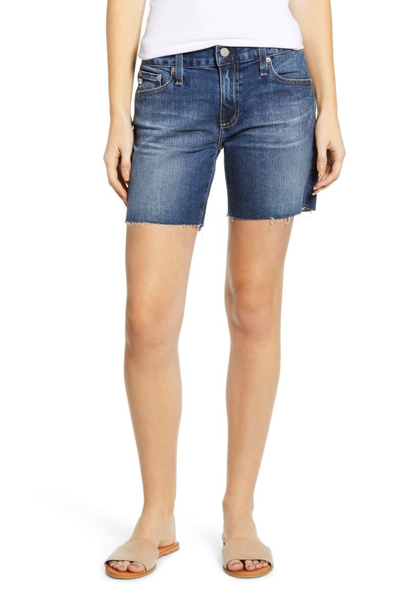 AG Becke Cutoff Denim Shorts, Main, color, 453