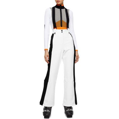 Topshop Sno Europa Water Repellent Flare Snow Pants, US (fits like 2-4) - White