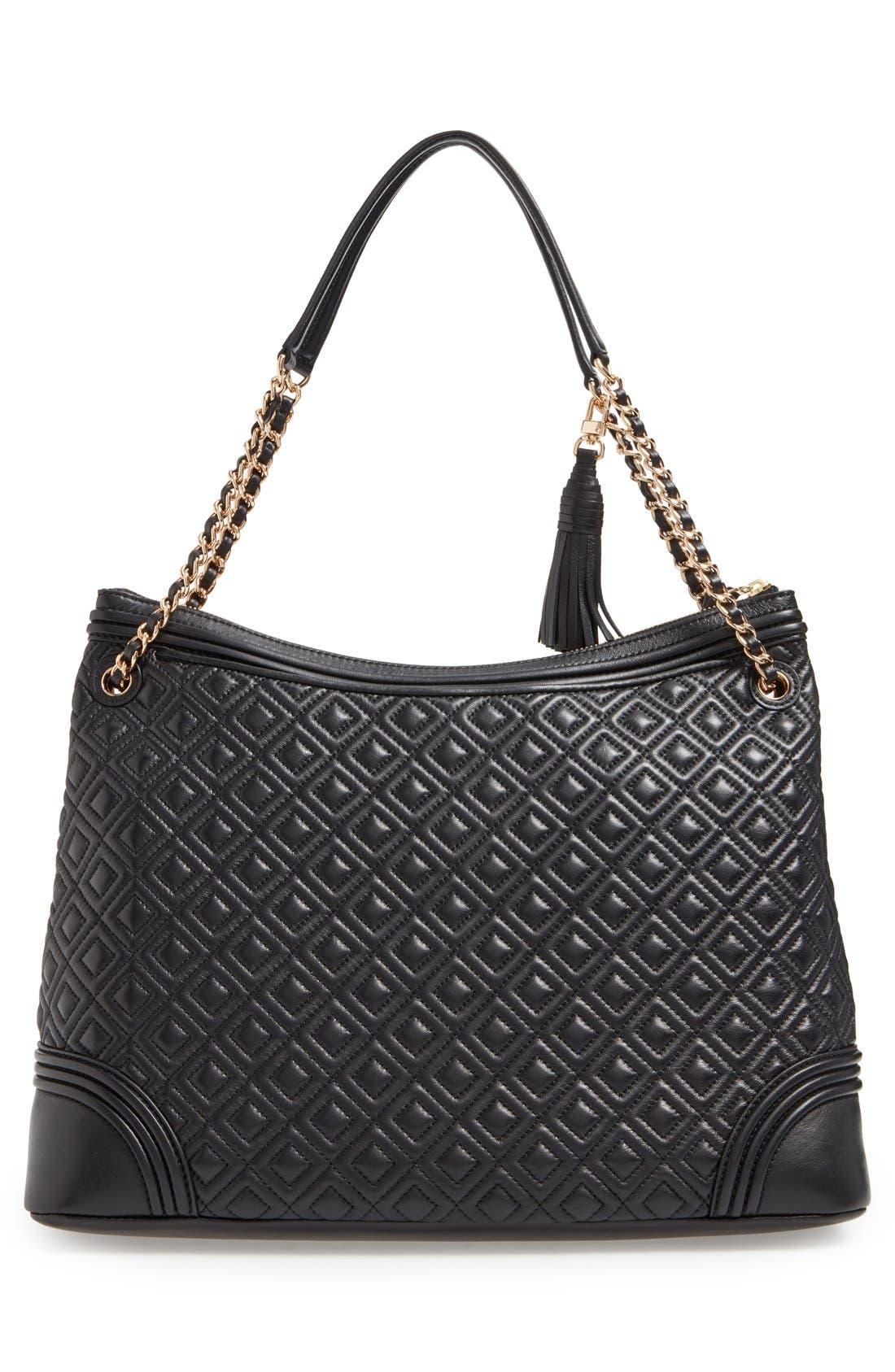 ,                             'Fleming' Leather Shoulder Bag,                             Alternate thumbnail 4, color,                             012