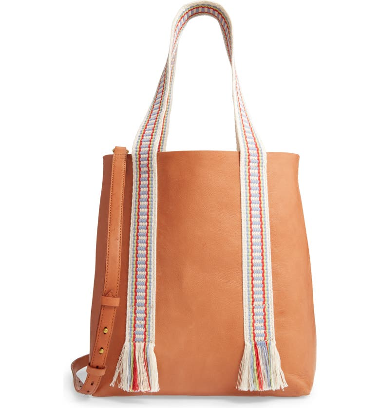 MADEWELL The Medium Transport Tote: Woven Handle Edition, Main, color, 200