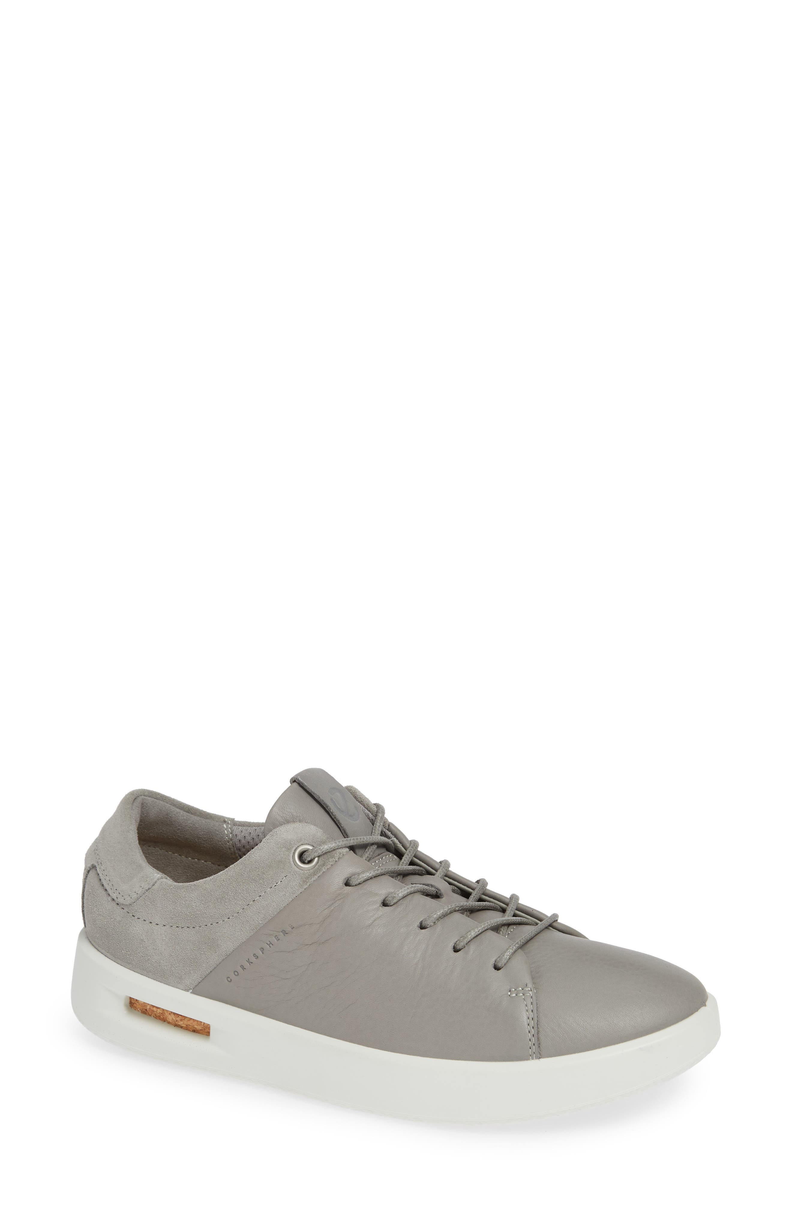 Ecco Corksphere Waterproof Sneaker, Grey