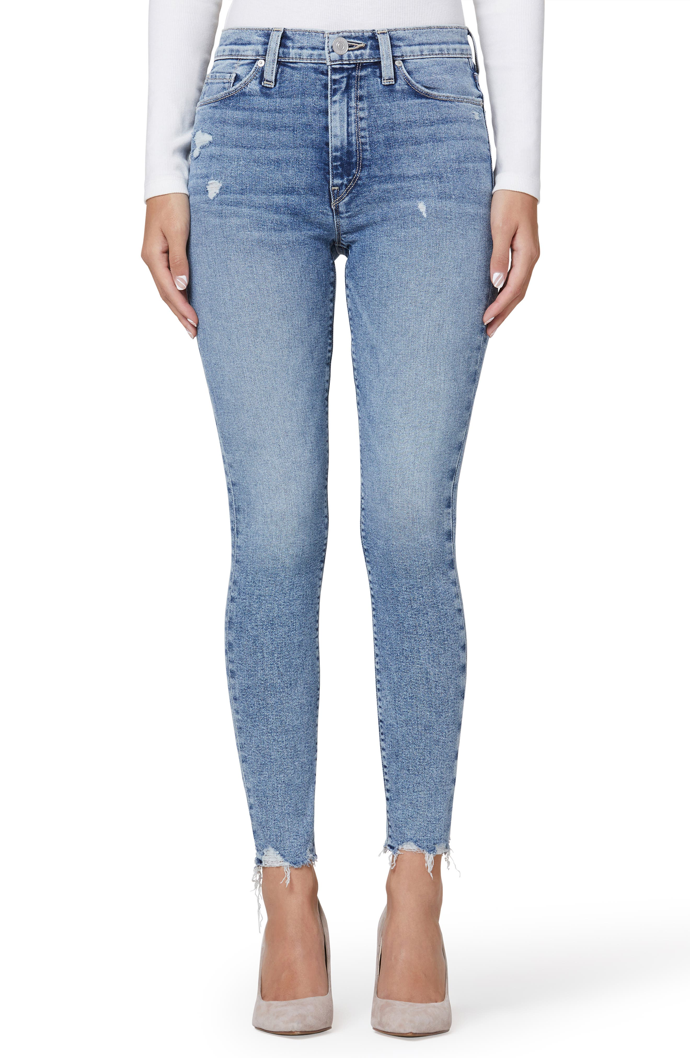 Barbara High Waist Distressed Super Skinny Jeans