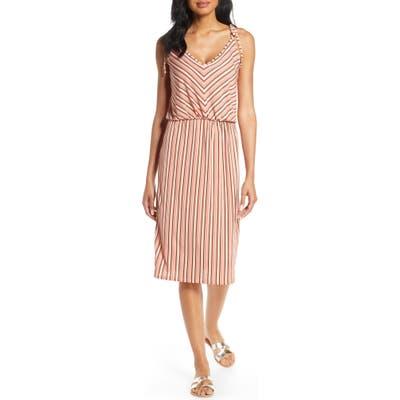 Leota Irene Sleeveless Tie Shoulder Dress, Pink
