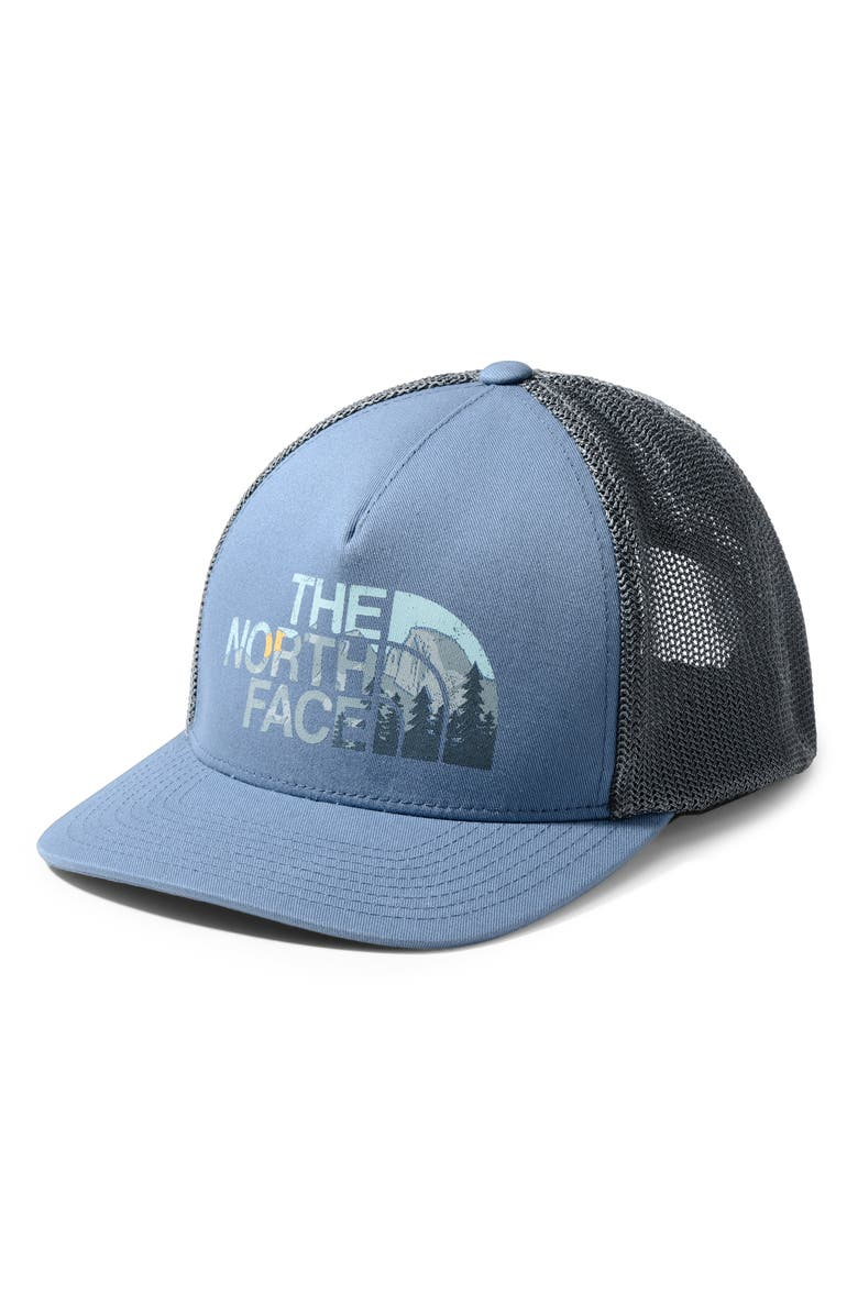 THE NORTH FACE Keep It Structured Trucker Hat, Main, color, STORM BLUE